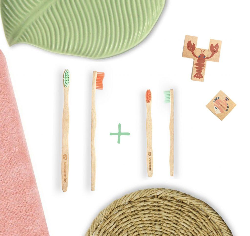 Bambusowa szczoteczka do zębów pakiet rodzinny