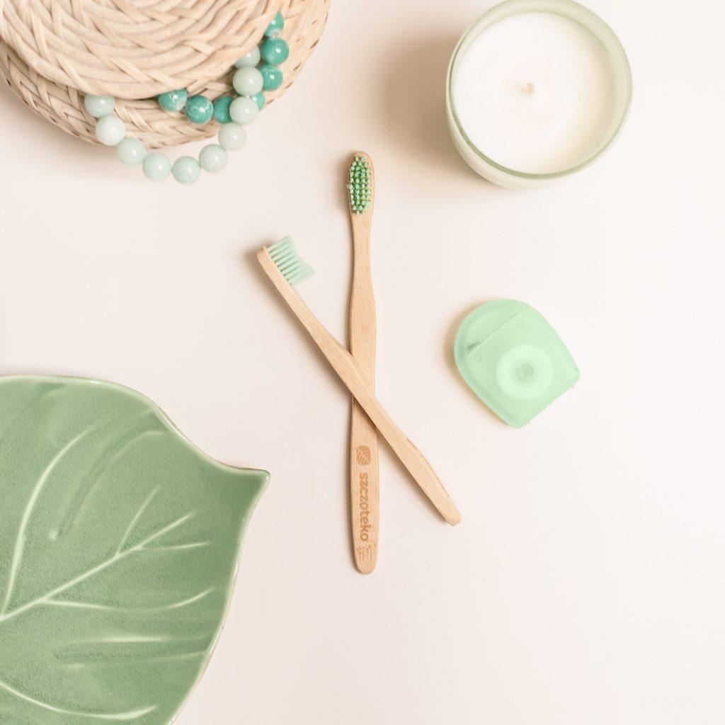 Bambusowa szczoteczka Świeża mięta